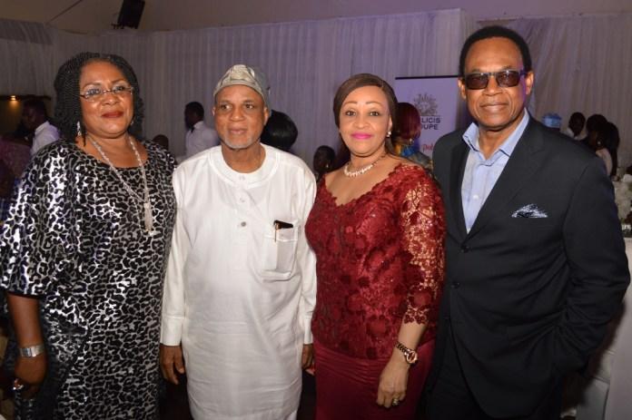 Mr. & Mrs. Biodun Shobanji with Mr. & Mrs. John Edozie
