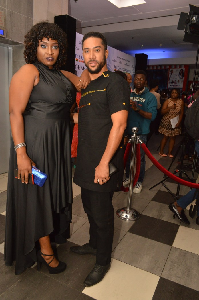 Adora Ifezue with Majid Michel