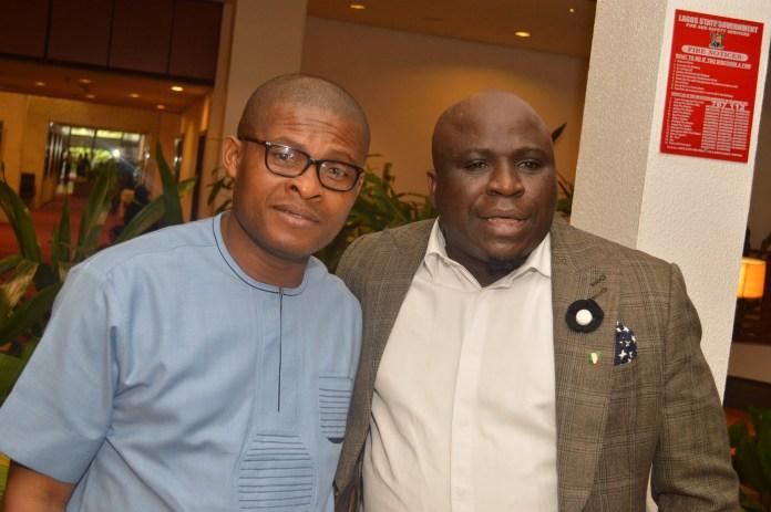 Azuh Arinze with Gbenga Adeyinka