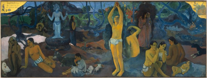 Where Do We Come From? What Are We? Where Are We Going? Paul Gauguin, 1897 – 1898. Oil on canvas. Tompkins Collection—Arthur Gordon Tompkins Fund. Photograph © Museum of Fine Arts, Boston