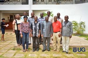 Dr. Pabi Opoku, Dr. Daniel Nukpezah, Dr. Benedicta Fosu Mensah, Dr. Samuel Koranteng, Senior Research Fellows, IESS; Dr. Daniel Darko, Research Fellow, IESS; Mr. Peter Osei-Fosu, Senior Assistant Registrar, IESS and other members of faculty | photo: University of Ghana