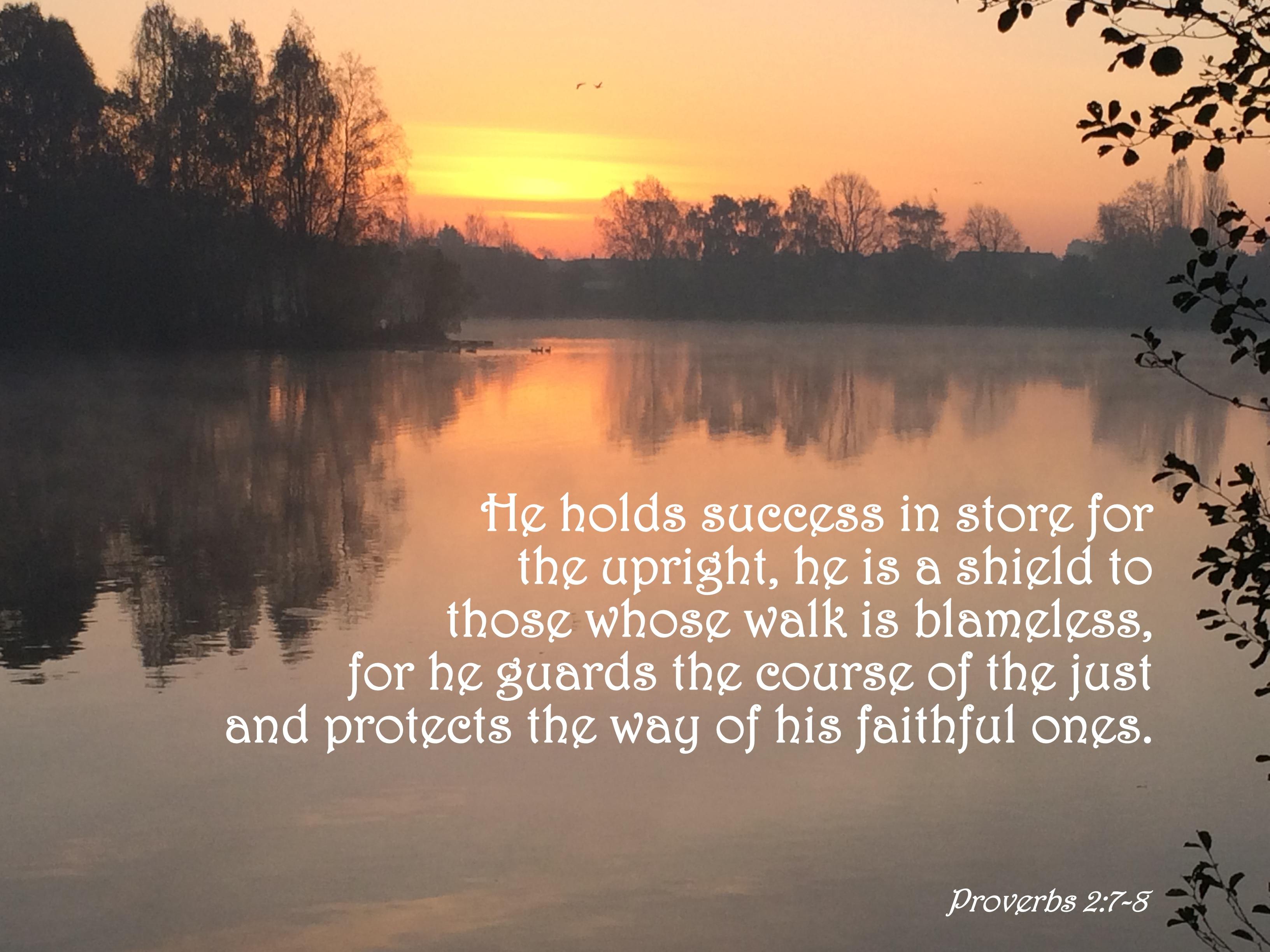 Proverbs 2 7 8