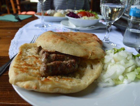 Delicious cevapi from Sofra