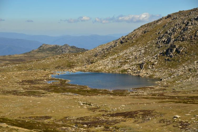 distance photo of lake cootapatamba mount kosciuszko new south wales