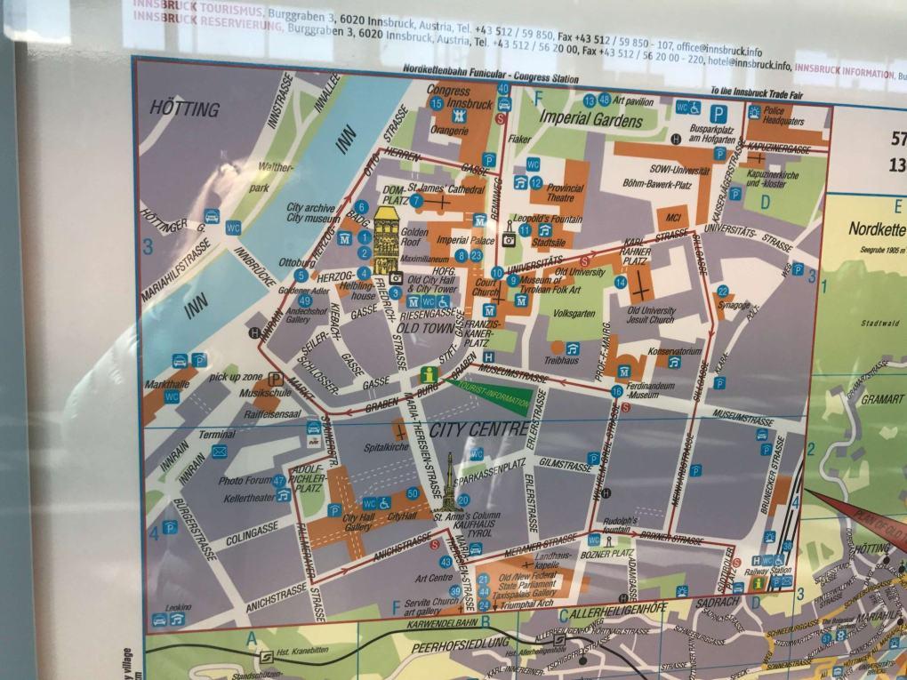map of innsbruck city centre