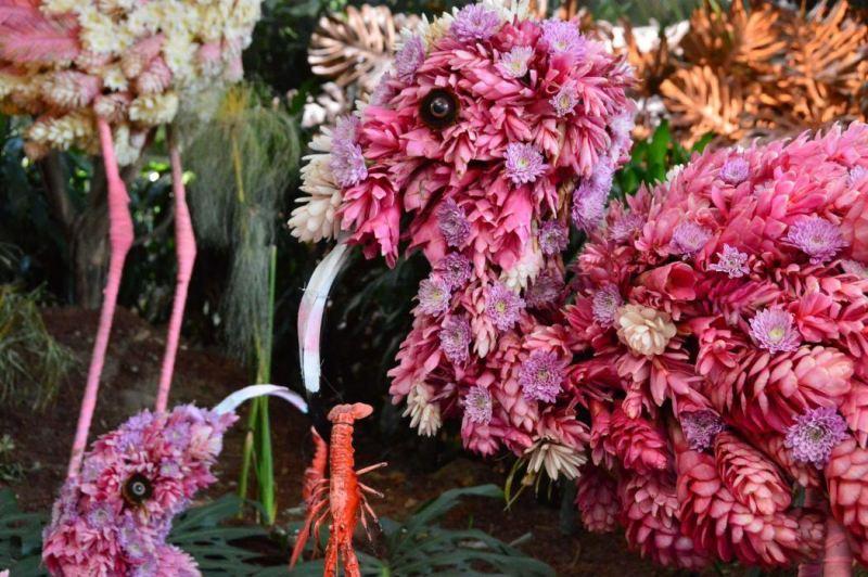floral animal exhibit