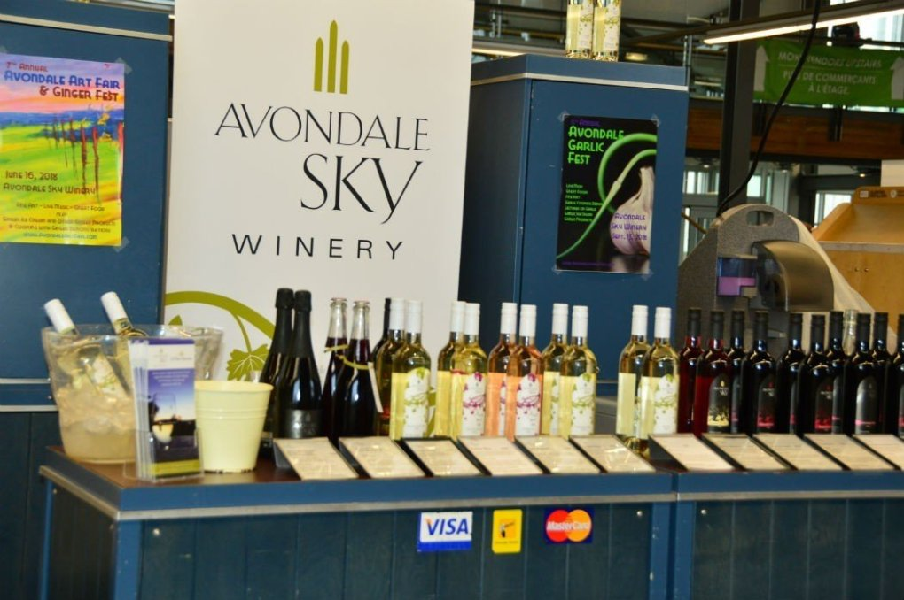 Avondale Sky Winery stall at halifax market