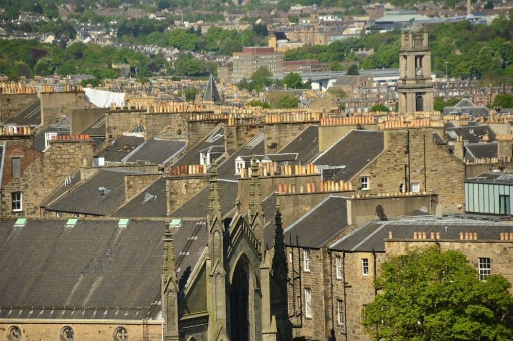 edinburgh grey rooftops