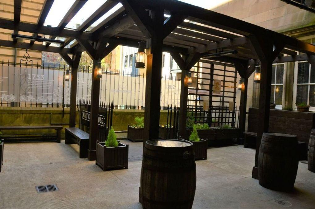 waiting area for underground edinburgh mary king's close tour