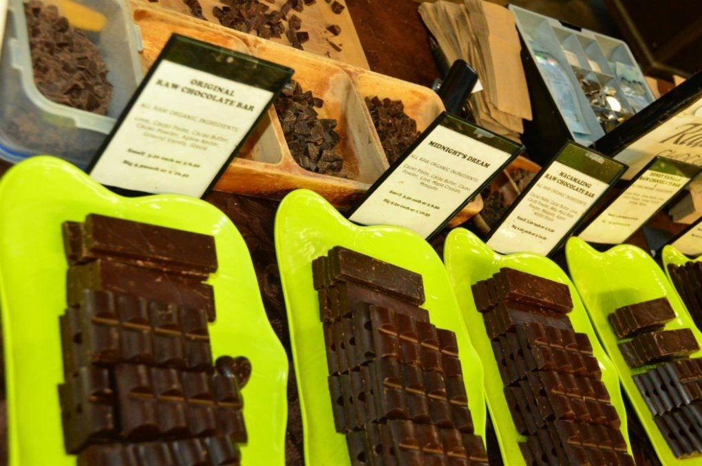 chocolates at halifax farmers market