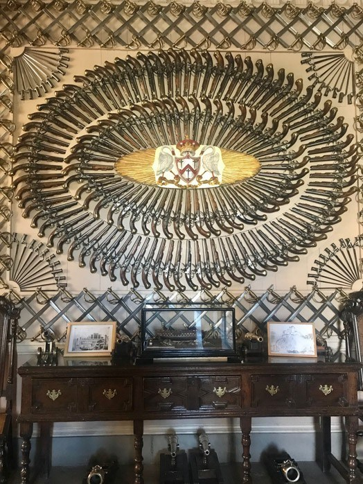 The knife collection at Culzean castle