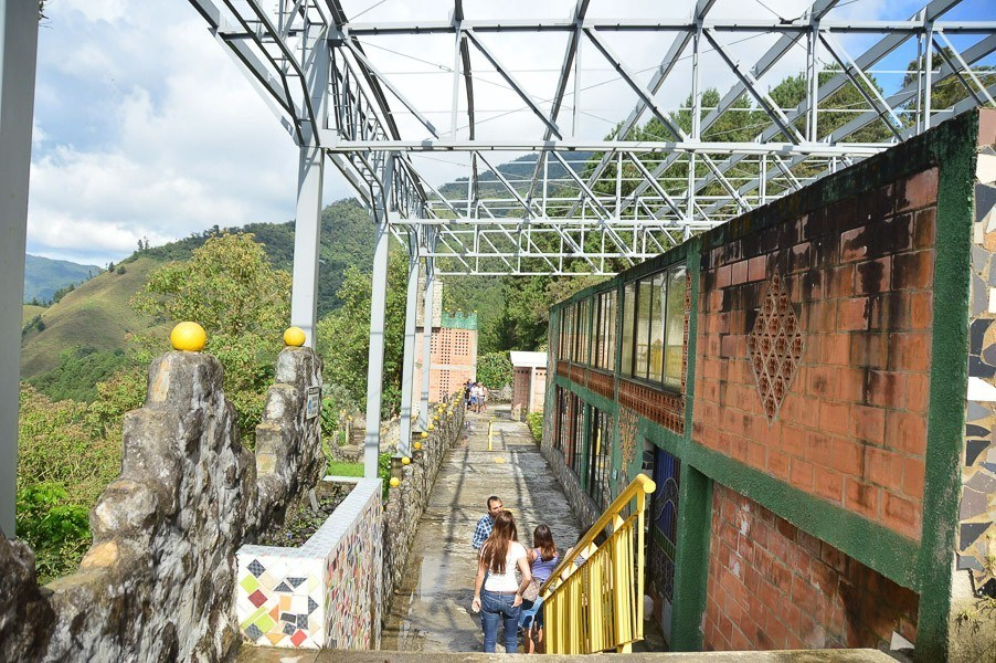The now coverted pablo escobar prison on the pablo escobar tour