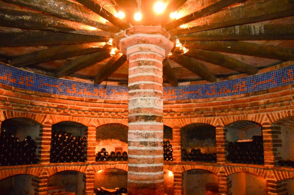 The wine cellar at Chateau St-Louis