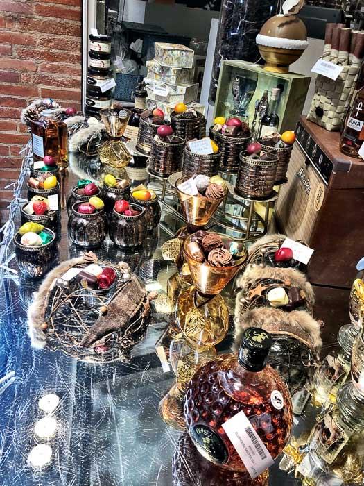 Patisserie Alexandres chocolate display