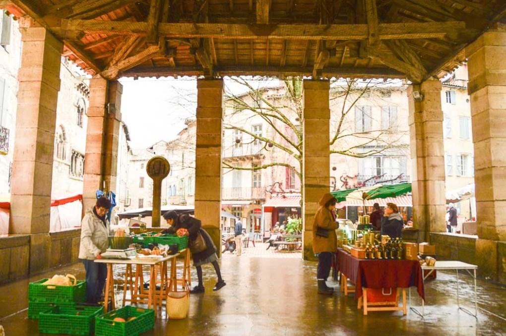 Market Hall centre of Saint Antonin Noble Val