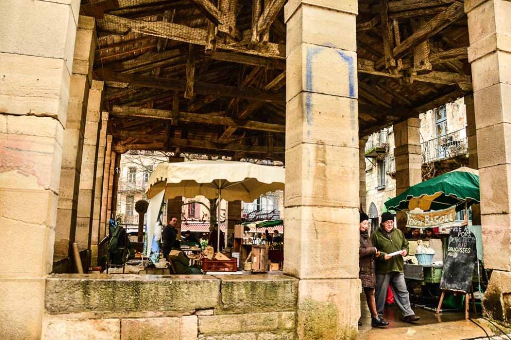 Covered market square in Saint Antonin Noble Val