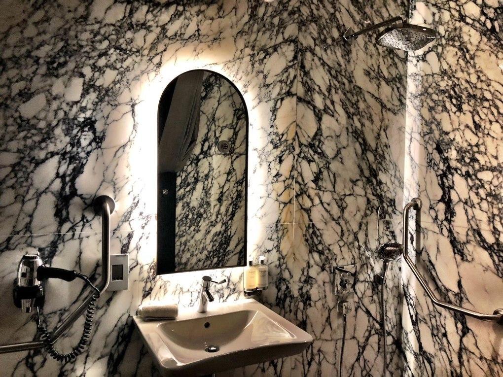 bathroom at Slow lounge Johannesburg