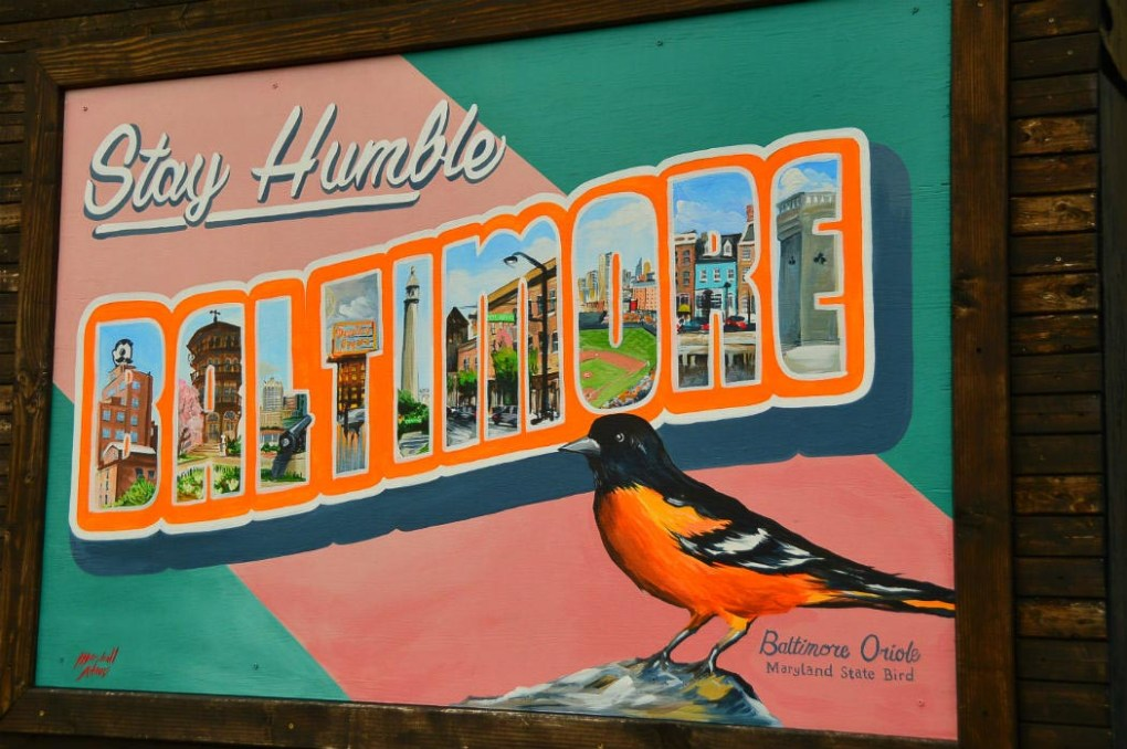 stay humble baltimore mural in hampden baltimore