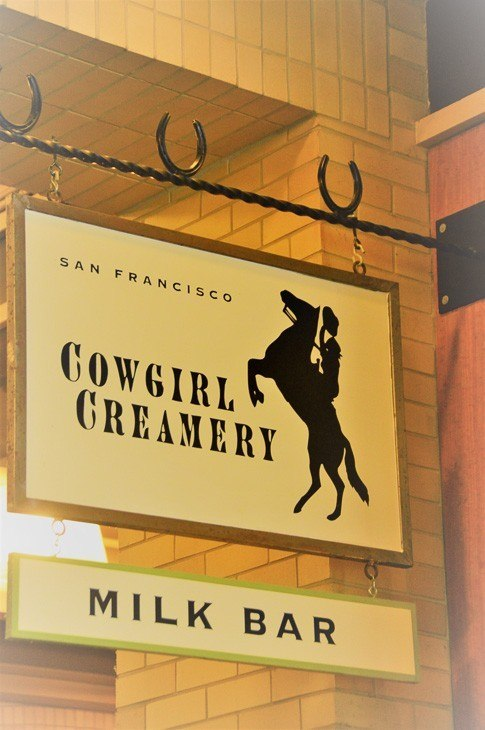 Cowgirl Creamery & Milk Bar sign at the Ferry Building