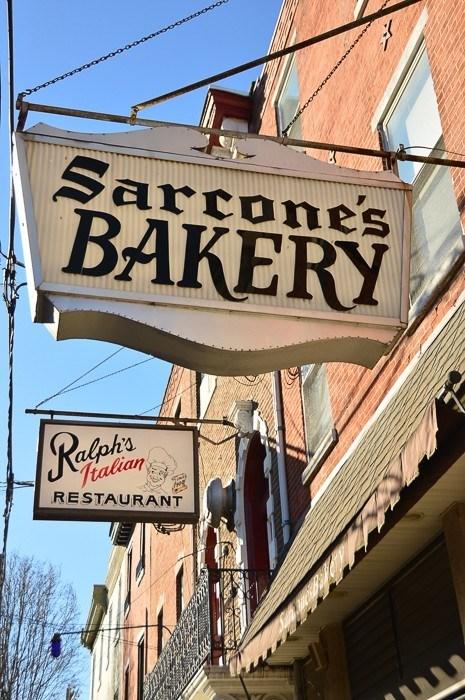 Sarcone's bakery sign in philadelphia