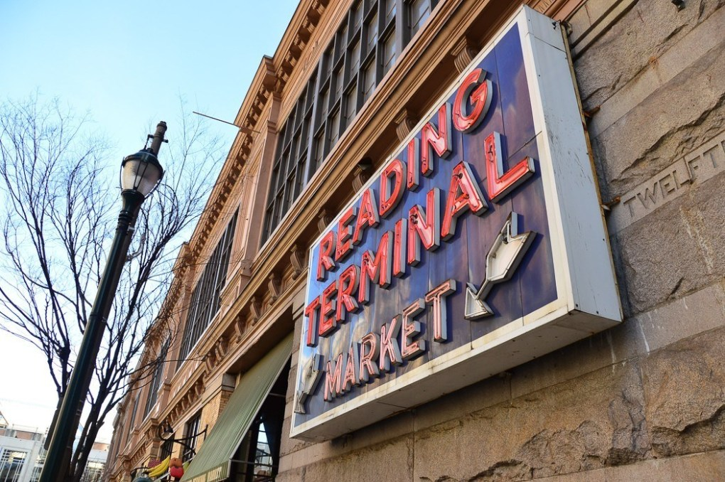 philly food tours icon Reading Terminal Market sign
