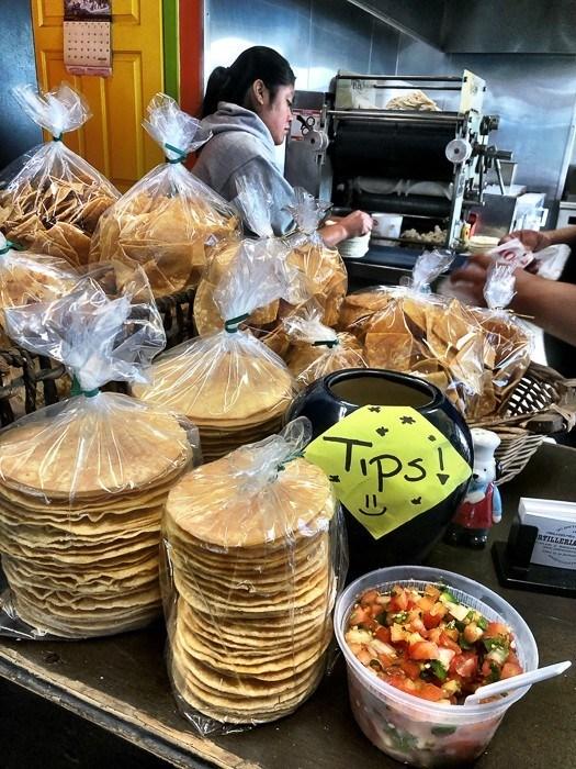 freshly made tortillas in a taqueria in philadelphia