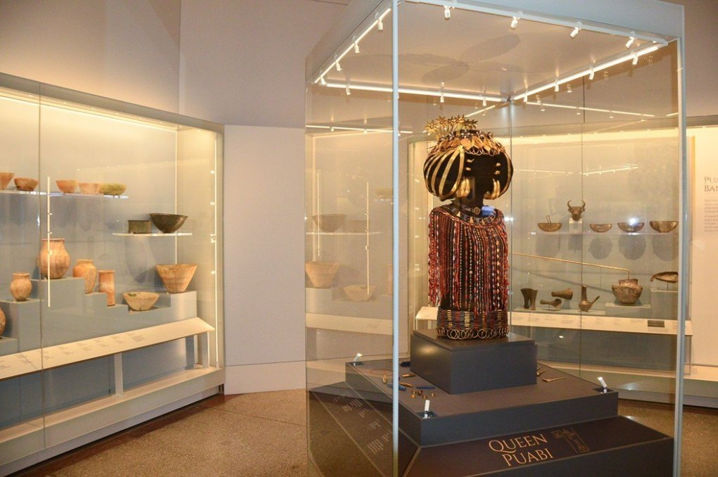 items on display at the Penn musuem philadelphia