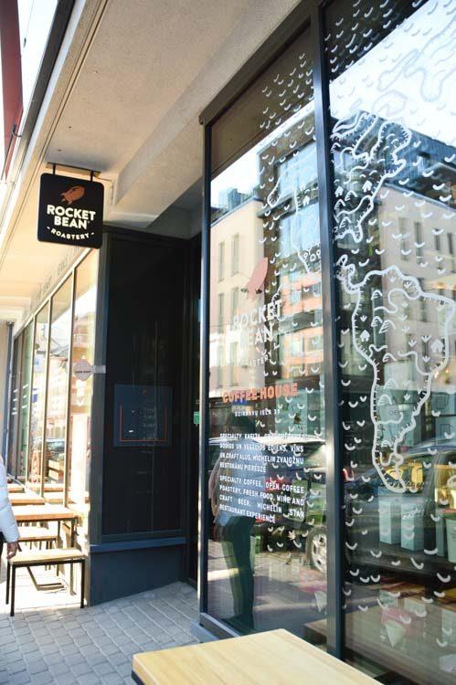 Exterior of Rocket Bean cafe