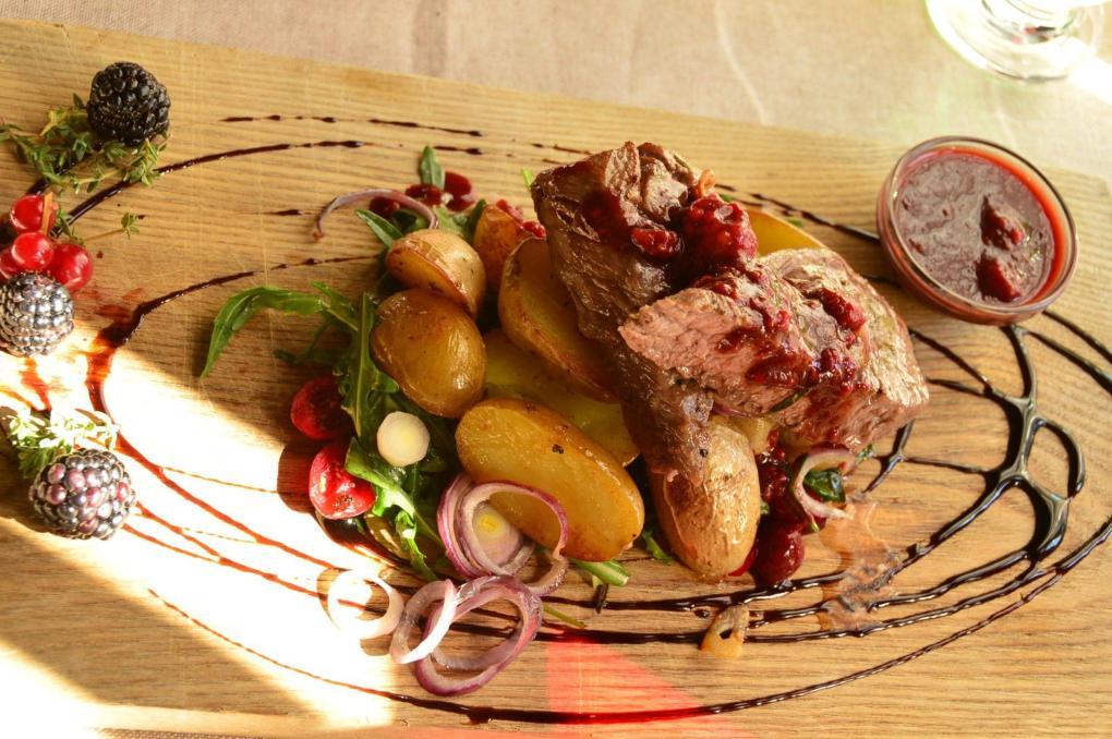 Lamb dish at Maja restaurant Riga Latvia