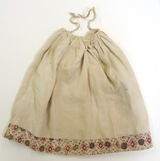 Linen petticoat with patterned border