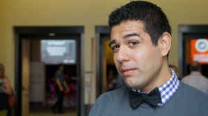 "Anthony is rocking the ""Dapper Dan,"" bow tie from our collection"