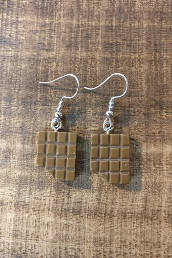 Melkchocolade oorhangers