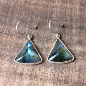 silver 925 labradorite earrings