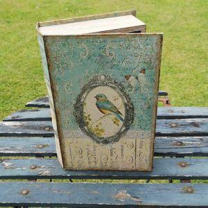 Opbergboek boekendoos Blauwstaart large voorkant