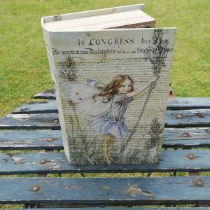 Opbergboek boekendoos Flower Fairy lavendel large voorkant
