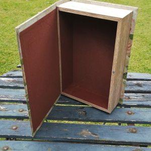 Opbergboek boekendoos Vlinders large achterkant