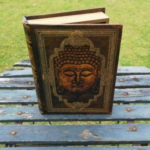 Opbergboek boekendoos Boeddha medium voorkant
