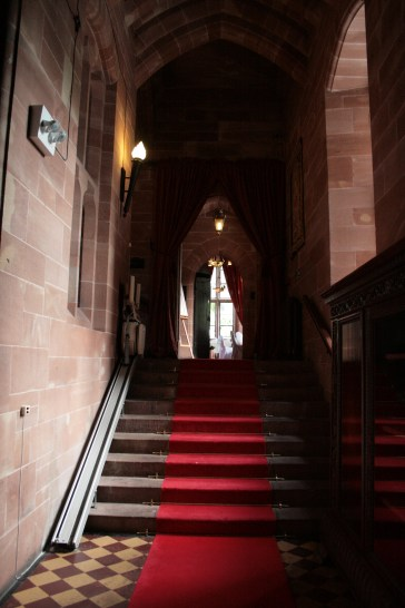 Inside Peckforton Castle in Cheshire, England