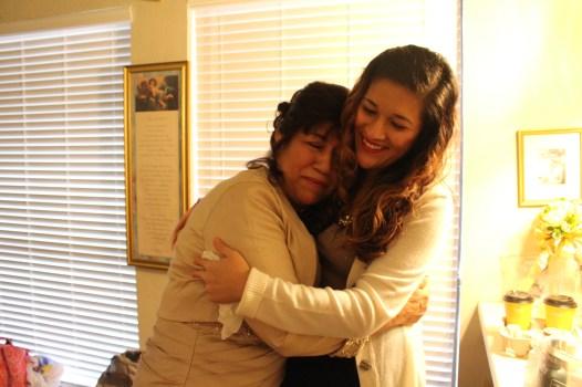A good hug after a long time apart