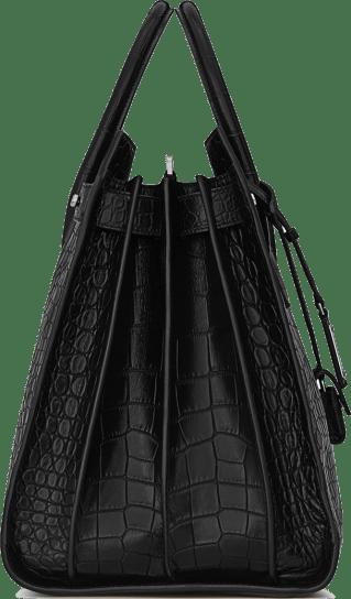 LARGE SAC DE JOUR SOUPLE BAG IN BLACK CROCODILE EMBOSSED LEATHER 2