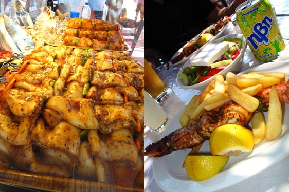 Seafood Souvlaki