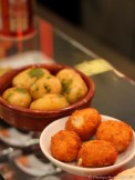 Croquetas de Jamon and Papas Arrugadas (Wrinkled Potatoes)