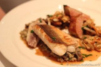 Cornish gurnard, Jerusalem artichokes, barley & Monkfish liver(@ Chez Bruce - London)