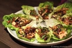 Kerabu Chicken & Woodear lettuce boats
