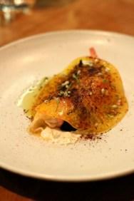 Spot Prawn, Fermented Walnut, Heirloom Tomato & Horseradish Cream - Trois Mec, L.A.