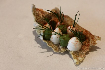 Crispy Fish Skin, Smoked Cod, Oyster & Dill