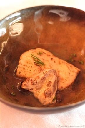 Hake, Kokotxa, Oyster leaf & sea sauce