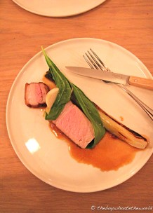 Saddleback loin, Calcots & Wild Garlic