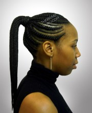 graceful lifestyle african ponytail