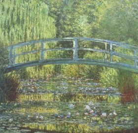 Monet: Lilys at Giverny before cataracts